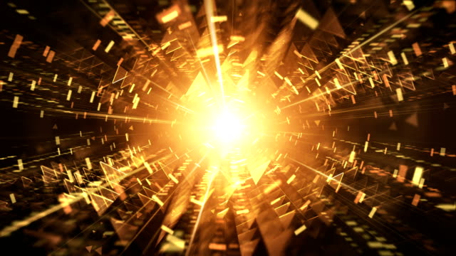 4k futuristic tunnel background (gold / orange / yellow) - loop - tunnel stock videos & royalty-free footage