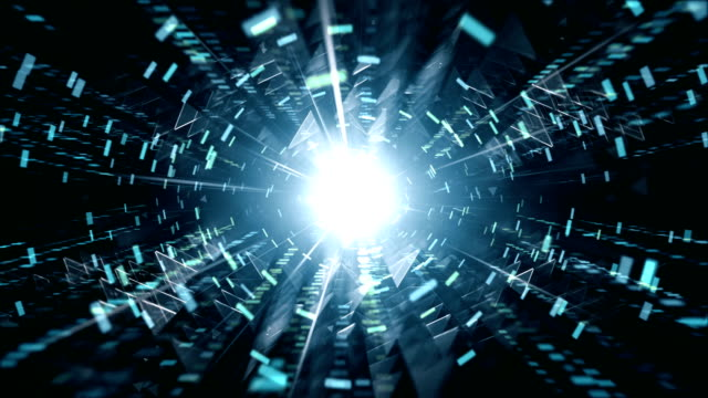 4k futuristic tunnel background (blue, black) - loop - luminosity stock videos & royalty-free footage
