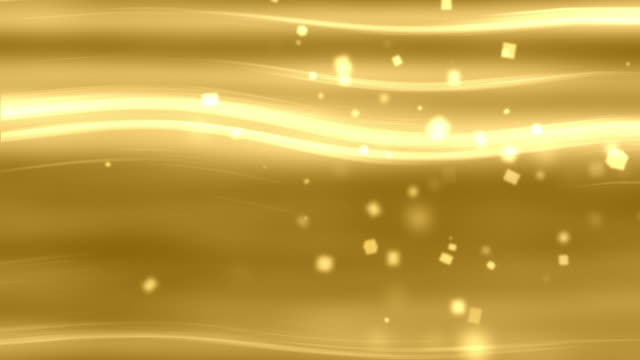 4k Glowing Gold Light Streaks Abstract Animation Background