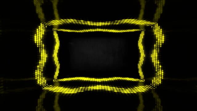4k glowing stage purple neon lights - loopable stock video - corridor stock videos & royalty-free footage