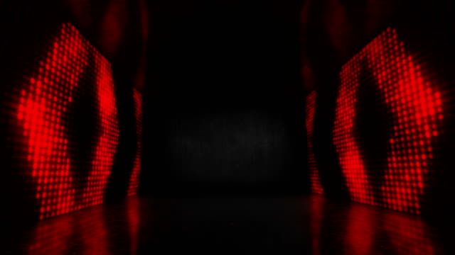 vídeos y material grabado en eventos de stock de 4k glowing stage red neon lights - loopable stock video - fondo rojo