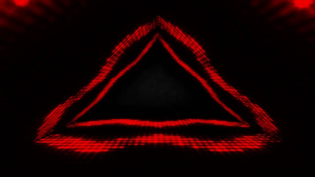 4k glowing stage red neon lights - loopable stock video - sovraesposizione effetti fotografici video stock e b–roll