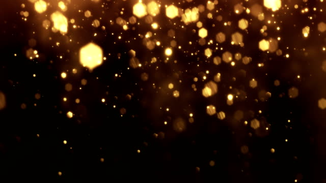 4k gold particles vertical movement - background animation - loopable - fascino video stock e b–roll