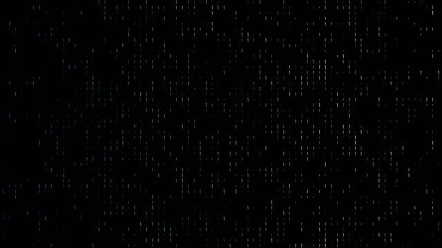 vídeos de stock e filmes b-roll de 4k gradient, colorful binary code with lots of the number ones glowing and fading out loopable background video on a black screen  for stock market and exchange, data, big data, business finance, communication, internet, virtual reality concepts - código binário