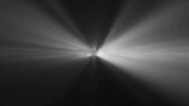 vídeos de stock e filmes b-roll de 4k gray abstract laser spotlight background - holofote