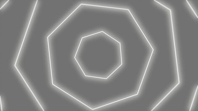 vídeos y material grabado en eventos de stock de fondo del túnel de 4k neón gris heptuno - luz brillante