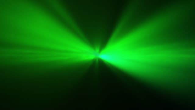 4k green abstract laser spotlight background - laser stock videos & royalty-free footage