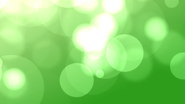 4k Green Bokeh Animation Background Seamless Loop