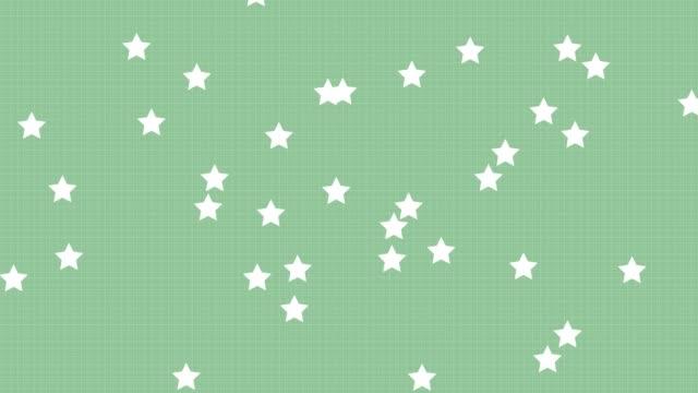 4k グリーンパステルスターの背景 - パステルカラー点の映像素材/bロール