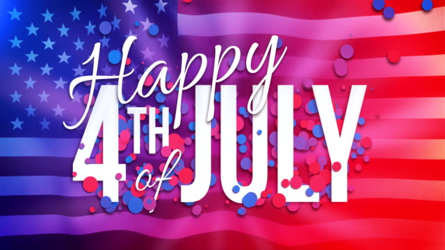 4k happy 4th of july animation - loopable - fourth of july stock videos & royalty-free footage