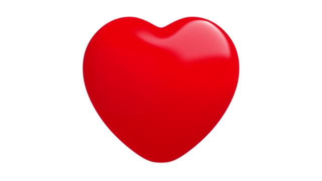 vídeos de stock, filmes e b-roll de 4 k coração vencer dois mais isolada com o luma matte - símbolo do coração