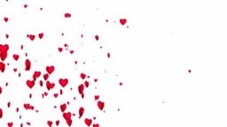 4k Heart Particles (White, Diagonal) - Loop