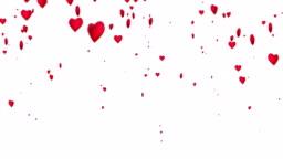 4k Heart Particles (White, Vertical) - Loop