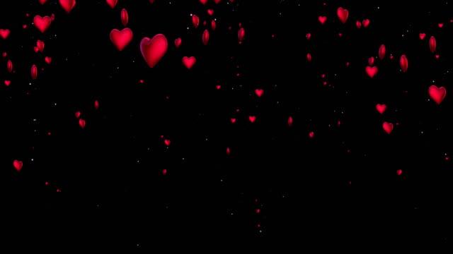 4k Heart Particles (Black, Vertical) - Loop