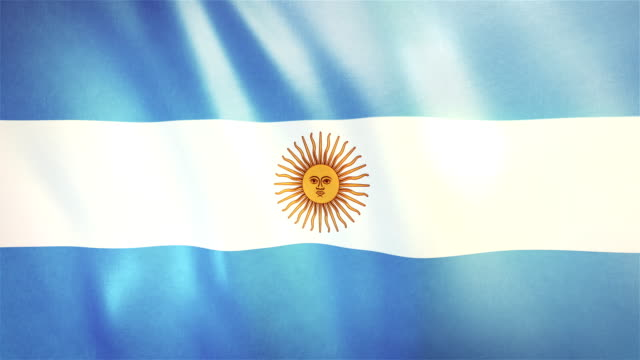4k highly detailed flag of argentina - loopable - argentinian culture stock videos & royalty-free footage