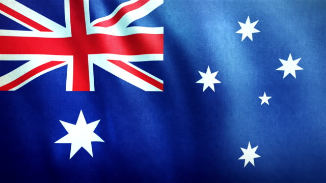 4k highly detailed flag of australia - loopable - politics stock videos & royalty-free footage