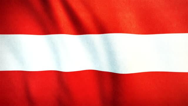 4 k hochdetaillierte flagge österreich - endlos wiederholbar - austria flag stock-videos und b-roll-filmmaterial