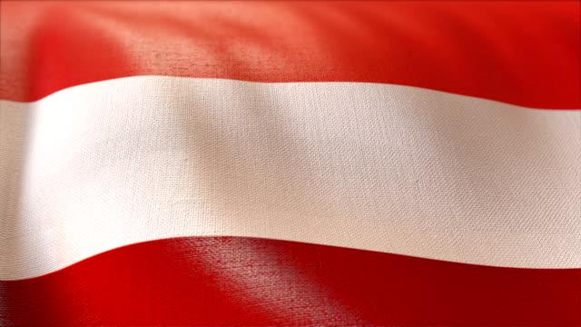 4 k hochdetaillierte flagge von österreich - austria flag stock-videos und b-roll-filmmaterial