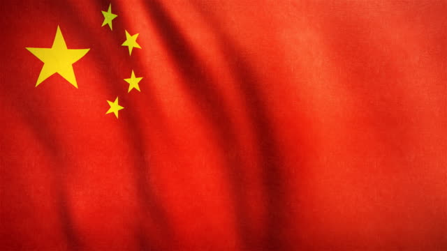 4k highly detailed flag of china - loopable - chinese flag stock videos & royalty-free footage
