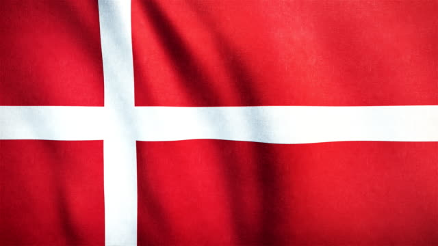 4k Highly Detailed Flag Of Denmark - Loopable