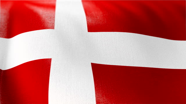 4k Highly Detailed Flag Of Denmark