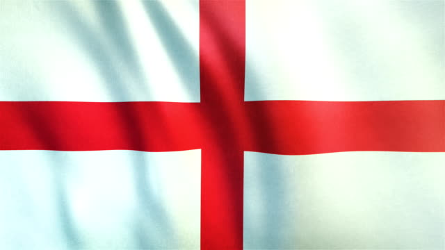4k highly detailed flag of england - loopable - british royalty stock videos & royalty-free footage