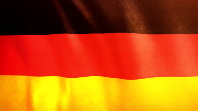 4k highly detailed flag of germany - loopable - flag stock videos & royalty-free footage