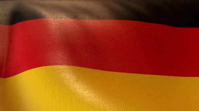 4k highly detailed flag of germany - intricacy stock videos & royalty-free footage