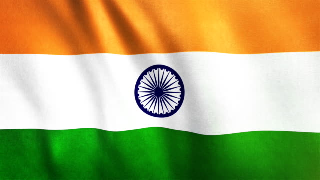 4k highly detailed flag of india - loopable - bollywood stock videos and b-roll footage