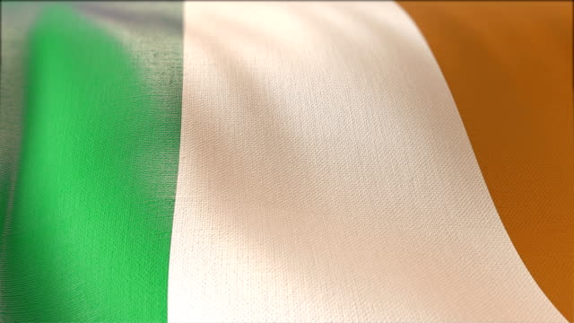 4k Highly Detailed Flag Of irland