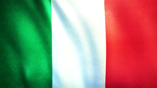 4k highly detailed flag of italy - loopable - italian food stock videos and b-roll footage
