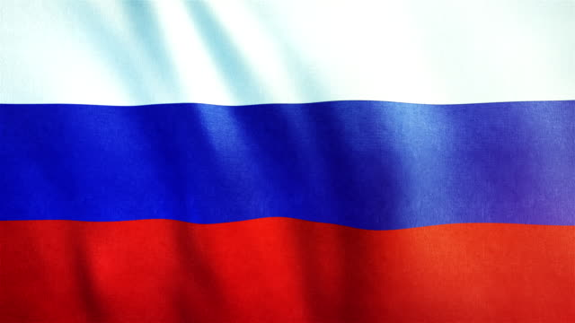 4k Highly Detailed Flag Of Russia - Loopable