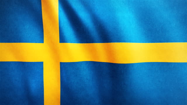 4k Highly Detailed Flag Of Sweden - Loopable