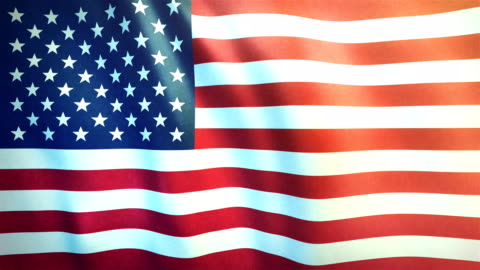 4k highly detailed flag of the united states of america - loopable - flag stock videos & royalty-free footage