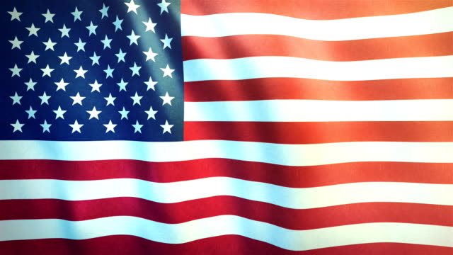 4k highly detailed flag of the united states of america - loopable - american flag stock videos and b-roll footage