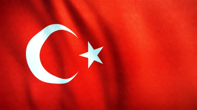 4k Highly Detailed Flag Of Turkey - Loopable