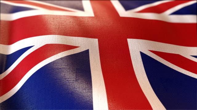 4k Highly Detailed Flag Of UK