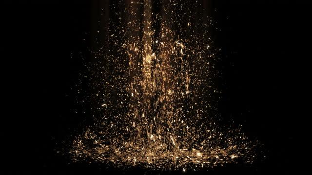 stockvideo's en b-roll-footage met 4k zeer gedetailleerde glitterdeeltjes (verticaal) met magisch licht - gala