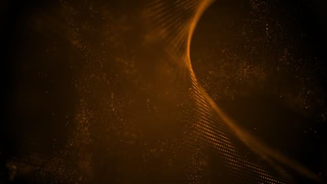vídeos de stock e filmes b-roll de 4k highly detailed particle stream - loop (bronze) stock video - proporção áurea