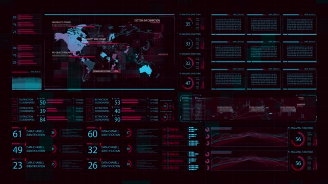 4k hud world map technology control panel - hologram stock videos & royalty-free footage