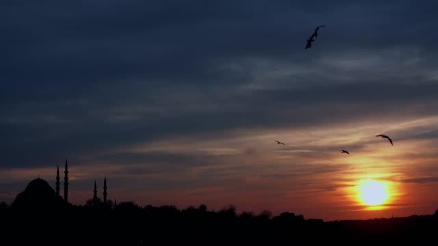 4k istanbul sundown silhouette