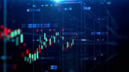 4k loop financial chart background  footage