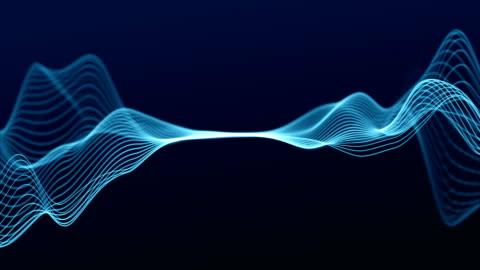 vídeos y material grabado en eventos de stock de 4k loopable - líneas de onda abstractas - cordel