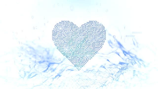 4k Love And Technology (White / Light Blue) - Loop