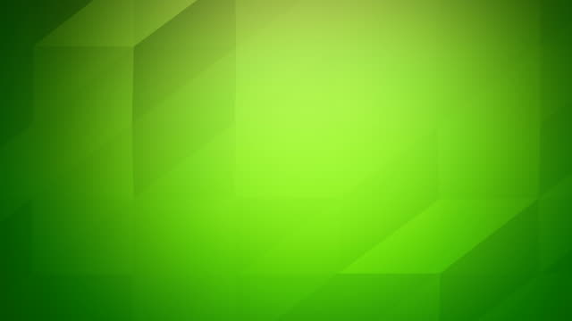 vídeos de stock e filmes b-roll de 4k low poly video of abstract geometric triangles loopable green background - modelação low poly
