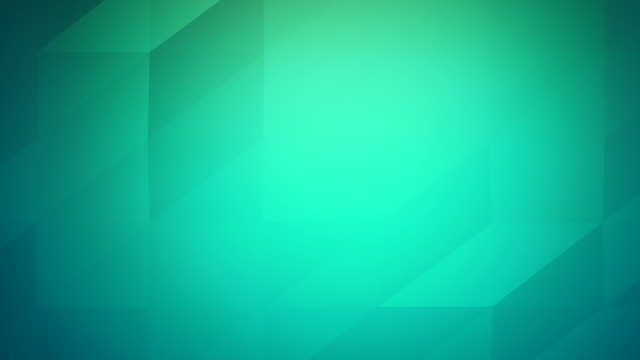4k Low poly video of abstract geometric triangles loopable turquoise background