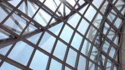 4k: Modern Ceiling Of a Airport Terminal