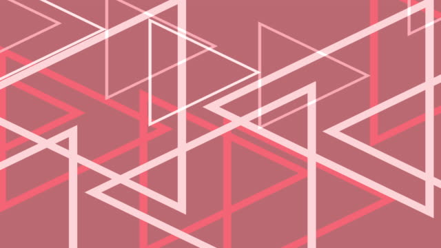 4k Modern Pink Triangles Abstract Background Animation
