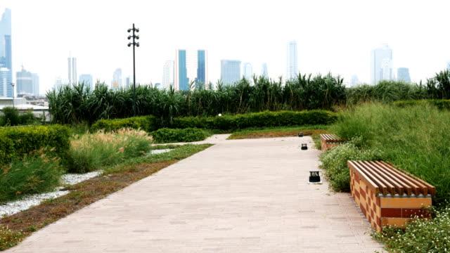 ダウンタウンの 4 k モダンな都市公園