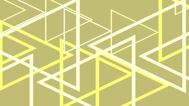 4k Modern Yellow Triangles Abstract Background Animation